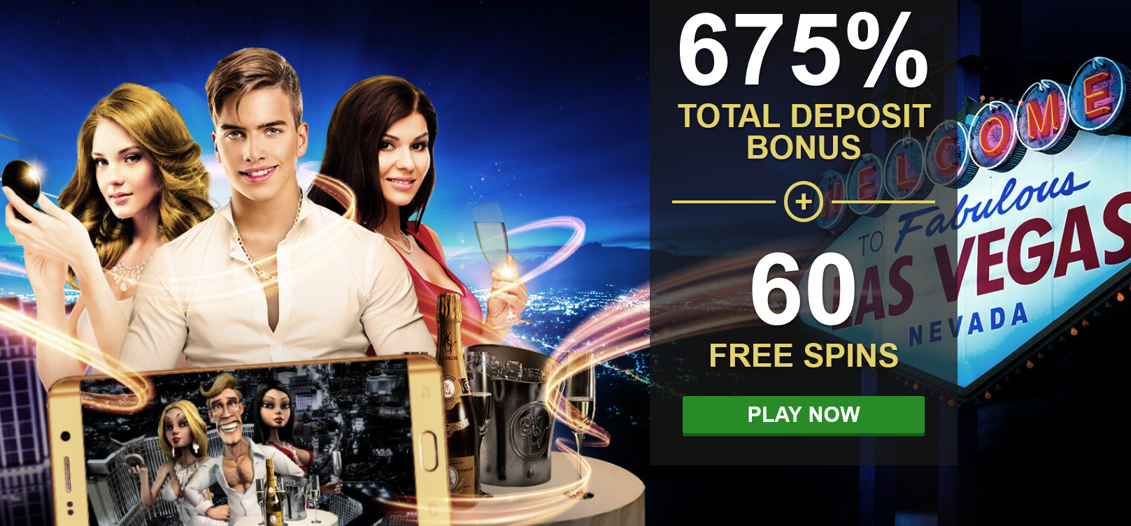 Rich Casino - 675% + 60 Free Spins